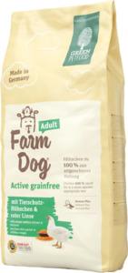 Green Petfood Trockenfutter für Hunde, FarmDog, Active, getreidefrei mit Tierschutz-Hühnchen & roter Linse