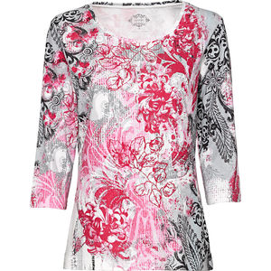 Adagio Damen-Rundhals-T-Shirt mit 3/4-Arm