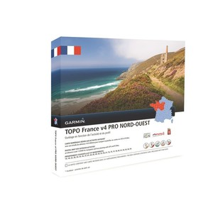 Topographische Frankreichkarte Nord-West V4