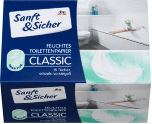 Sanft&Sicher Feuchtes Toilettenpapier Sensitive Sachets