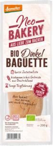 Schnitzer neo bakery Brot, Baguette aus Dinkelmehl, zum aufbacken, Demeter