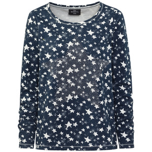 Damen Pullover mit Sternen-Print