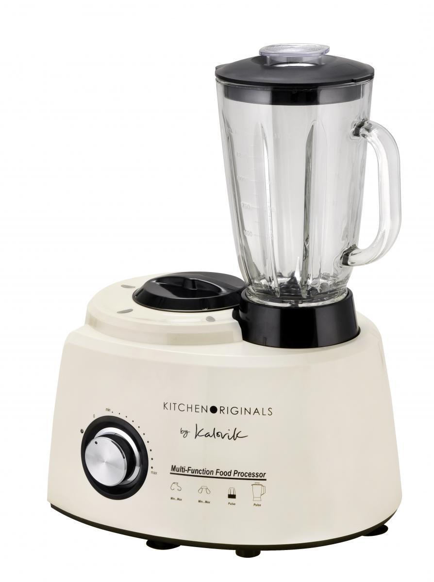 Bild 2 von KitchenOriginals 3 in 1 Küchenmaschine TKG HA 1007 Creme-Weiß mit Standmixer- & Zerkleinereraufsatz