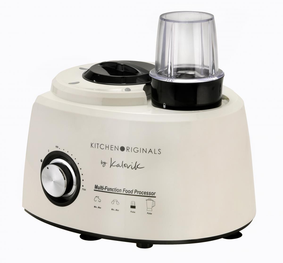 Bild 3 von KitchenOriginals 3 in 1 Küchenmaschine TKG HA 1007 Creme-Weiß mit Standmixer- & Zerkleinereraufsatz