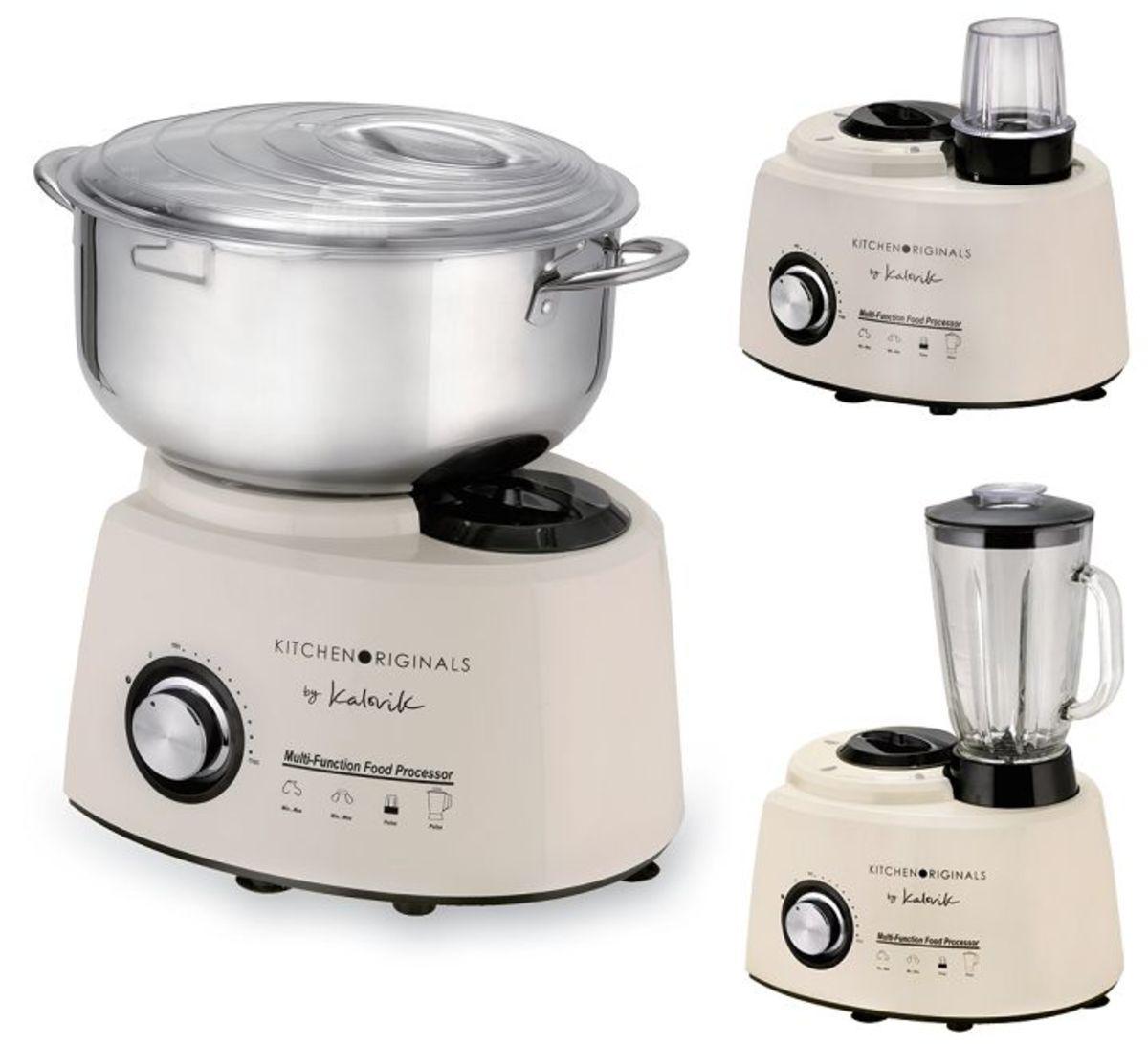Bild 4 von KitchenOriginals 3 in 1 Küchenmaschine TKG HA 1007 Creme-Weiß mit Standmixer- & Zerkleinereraufsatz