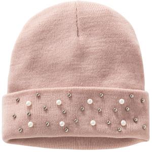 Damen Mütze mit Zierperlen