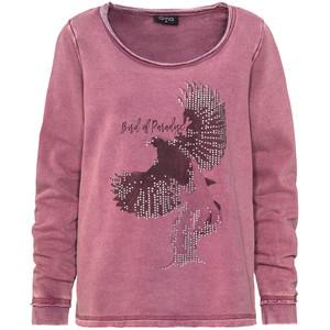 Damen Sweatshirt mit Oil-Washed-Effekt