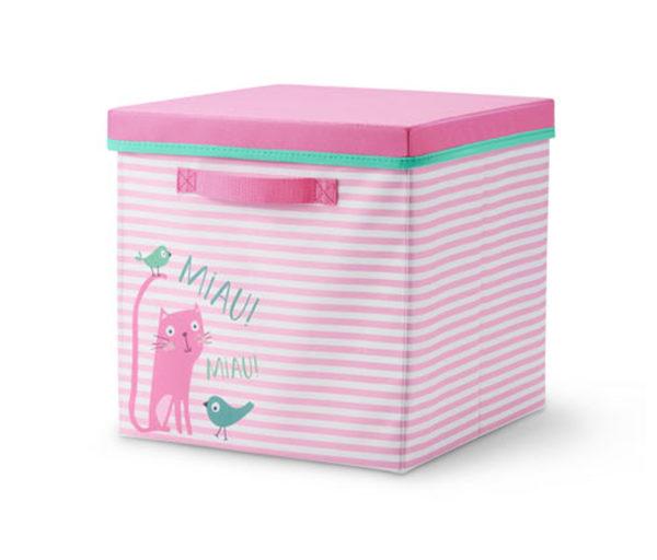 Kids-Ordnungsbox mit Deckel »Cat« von Tchibo für 9,99 € ansehen ...