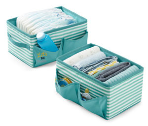 2 Ordnungsboxen mit Seitentaschen