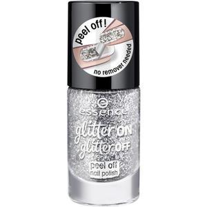 essence glitter on glitter off peel off nail polish1