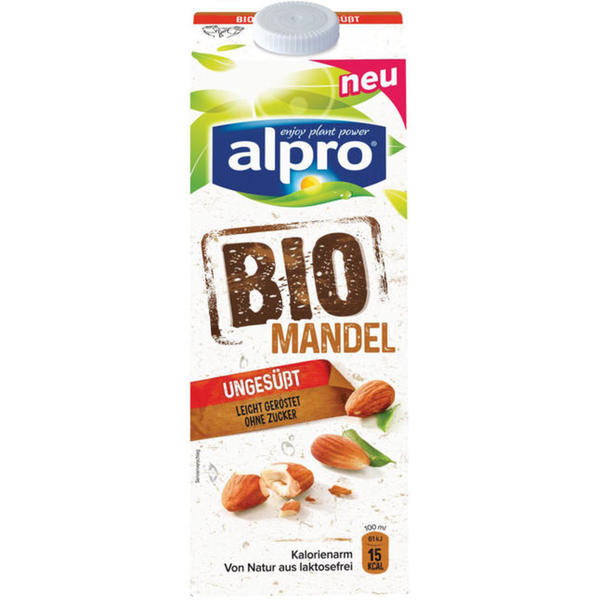 alpro soja Bio Mandeldrink ungesüßt 2.99 EUR/1 l