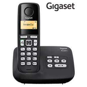 Schnurlos-DECT-Telefon AL225A · Telefonbuch für bis zu 80 Einträge · ECO DECT, Standardakkus · digitaler Anrufbeantworter