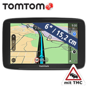 Navigationssystem Start 62 EU inkl. Free Lifetime Maps** · Fahrspurassistent · TMC-Empfänger im Ladekabel integriert · neueste TomTom-Technologie  · 8 GB interner Speicher · microSD™-Slot ·