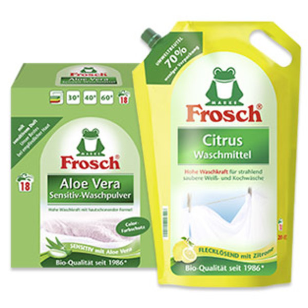 Frosch Waschmittel 18 Waschladungen, versch. Sorten, jede Packung