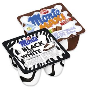 Zott Monte Maxi Milch-Dessert + Schoko oder Black and White jede 4 x 100 g = 400-g-Packung