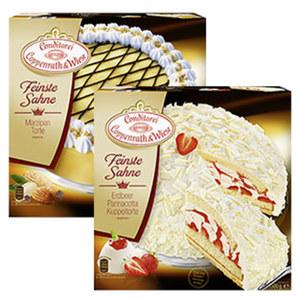 Coppenrath & Wiese Feinste Sahne Marzipan Torte gefroren, jede 1250-g-Packung und weitere Sorten