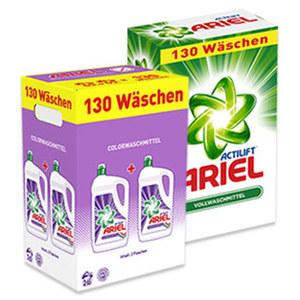 Ariel Waschmittel 105/130 Waschladungen, versch. Sorten, jede Packung