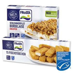 Frosta Schlemmerfilet 360 g oder Fischstäbchen 450 g gefroren, jede Packung und weitere Sorten