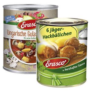 Erasco ungarische Gulaschsuppe oder Hackbällchen versch. Sorten, jede 780-ml/800-g-Dose