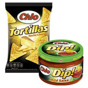 Chio Tortilla Chips oder Dip versch. Sorten,  jeder 125-g-Beutel/jedes 200-ml-Glas