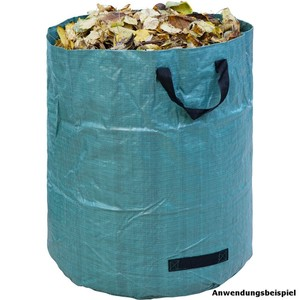 Gartentasche 272L 76x67 cm grün Laubsack