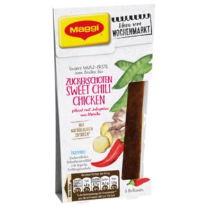 Maggi Würz-Paste zum Braten für Zuckerschoten Sweet Chili Chicken pikant mit Jalapeños 84ml