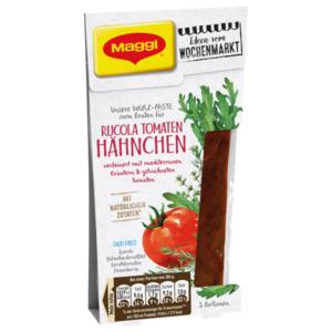 Maggi Würz-Paste zum Braten für Rucola Tomaten Hähnchen verfeinert mit mediterranen Kräutern und getrockneten Tomaten 88ml
