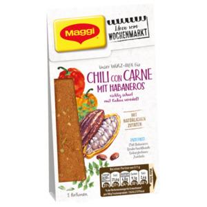 Maggi Würz-Mix für Chili con Carne mit Habaneros richtig scharf mit Kakao veredelt 48g