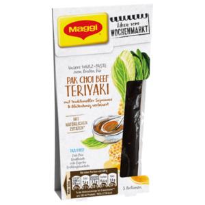Maggi Würz-Paste zum Braten für Pak Choi Beef Teriyaki mit traditioneller Sojasauce und Blütenhonig verfeinert 87ml