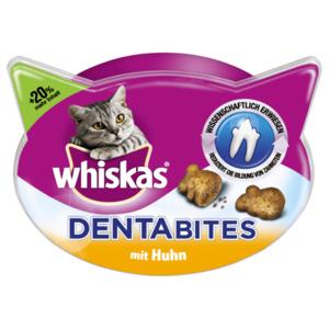 Whiskas Katzenfutter Dentabites mit Huhn 6x48g