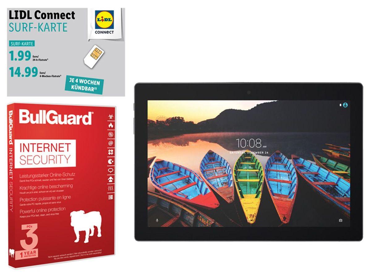 Bild 1 von Lenovo TAB3-X70L 10 Business Tablet + BullGuard Security + Surf Karte