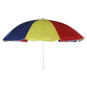 Sonnenschirm Multicolor - Stahl / Webstoff - Weiß / Blau, Gelb, Rot, Siena Garden