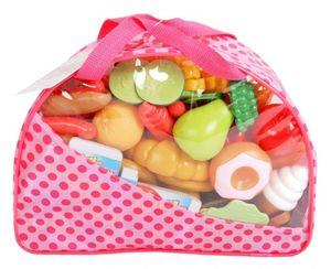 Handtasche mit Spielzeug-Lebensmitteln - über 100 Teile
