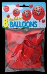 Marienkäferballons 8er Pack, Luftballon