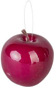 Deko-Apfel - aus Kunststoff - Ø = 6,5 cm