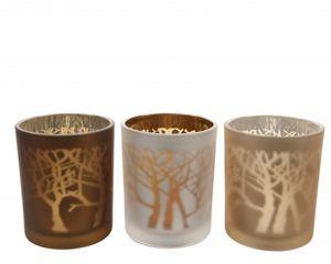Teelichtglas - Baum - 7 x 8,5 cm - 1 Stück
