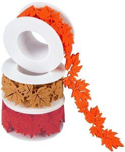 Dekoband - Herbstlaub - aus Filz - verschiedene Farben