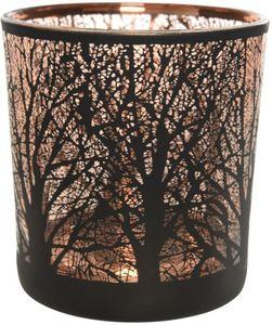 Teelichtglas - Baum - 7,5 x 8 cm