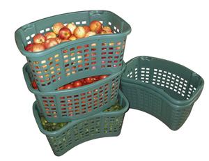 Drehstapelbehälter 35 Liter, lebensmittelecht, 4er - Set