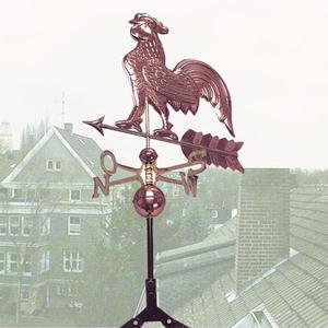 Dekorativer Wetterhahn aus Kupfer Westfalia