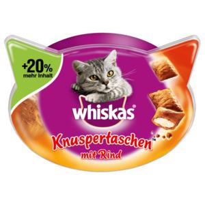 Whiskas Knuspertaschen Rind 72g