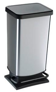 Rotho Treteimer Paso ,  40 l, silber-metallic