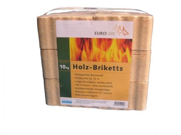 Holzbriketts 10 kg ,  Nadelholzspäne / eckig