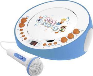 Dual Kinder CD-Player CP 18 AUX, CD Inkl. Karaoke-Funktion, Inkl. Mikrofon Blau