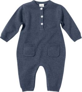 ALANA Baby-Overall, Gr. 68, in Bio-Baumwolle und Bio-Wolle, blau für Mädchen und Jungen