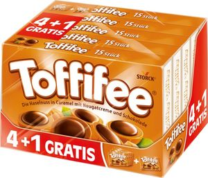 Tofffifee 4 + 1 gratis