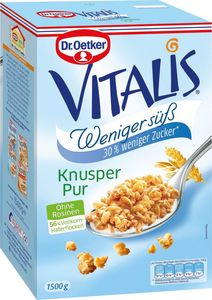 Dr. Oetker Vitalis weniger süß Knusper Pur 1500g