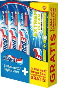 Odol-med3 Original 3x75ml + Extreme Clean Langzeit-Frische 75ml gratis