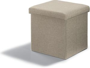 Sitz - und Aufbewarungshocker - Beige