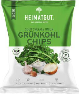 Heimatgut Grünkohl Chips Sour Cream & Onion, 30g